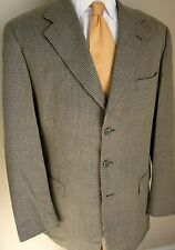 Givenchy Blazer 40L Taupe Blue Tweed 3 Buttons Sport Jacket Coat Mens Monsieur