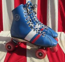 """Vintage Roller Derby Official Roller Skates Urethane Wheels 9 3/4"""" Boot Length"""