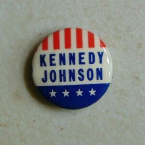 John F. Kennedy JFK 1960 campaign pin button political