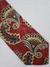 Vintage Markus Neiman-Marcus Collection Tie Handmade Silk Burgundy Paisley