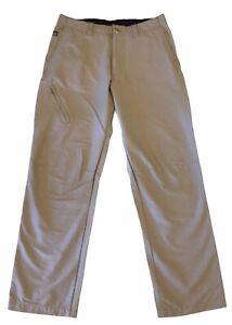 "Patagonia Khaki NYLON/SPANDEX Men's 34"" Regular Fit Hiking/Outdoor Pants"