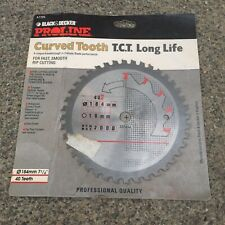 Black and Decker Proline TCT Curved Tooth Cutting Circular Saw Blade 187mm 40 T