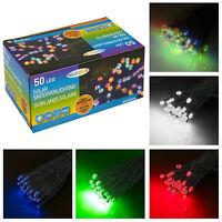 50 LED Jardin Fête Corde Solaire Fonctionne Brillant Extérieur Fairy Feux Arbre