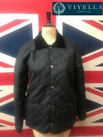 New Mens Waxed Cotton Padded Jacket VIYELLA Waterproof Quilted Coat British