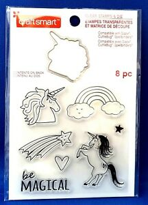 UNICORN Fantasy Animal - Be Magical - Craftsmart Rubber Stamp & Die 8 piece SALE
