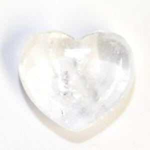 Natural Clear Quartz Heart Crystal 25mm Master Healing Gemstone