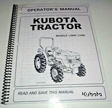Kubota L2800 L3400 Tractor Operators Owners Maintenance Manual OEM 6/05