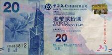 Hong Kong 2015 BOC $20 FD 086812
