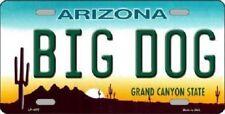 Big Dog Arizona Novelty Metal License Plate