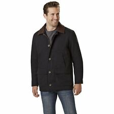 Outdoor Spirit Men's Work Wear Barn Coat Insulated Cotton Black 2XL New