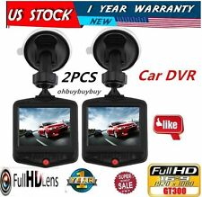 "LOT2 2.7"" HD 1080P Car DVR CCTV Dash Camera G-sensor Night Vision Recorder Black"