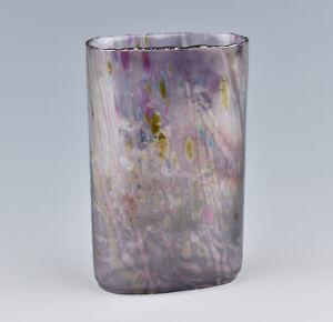 Isle Of Wight Studio Glass Meadow Garden Violet Oval Vase