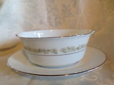 Noritake   TRILBY Gravy Boat Or Sauce Server with attached underplate # 6908