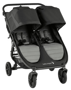 Baby Jogger City Mini GT2 Twin Baby Double Stroller Slate Open Box
