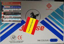 Sello de tinta almohadilla color Azul para estampar cuño tampón marca Horse