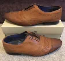 TED BAKER CIREK 2 TAN LEATHER BROGUE SHOES LOAFERS LACE UP UK11 NEED TLC SOLD AS