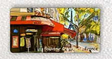 SOUVENIR FROM FRANCE, CAFE IN PARIS LARGE FRIDGE MAGNET -bnv5Z