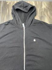 Apple Employee Black Full Zip Long Sleeve Hoodie Men's Size 5XL