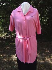 Earth Angels KOMAR SOFT KNIT Robe Cover Up Pink Short Sleeve Sz 8-10 So Cozy!