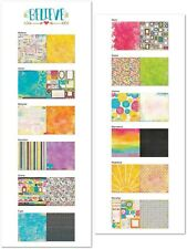 Bo Bunny BELIEVE Collection Scrapbook paper Lot 12 pcs double sided
