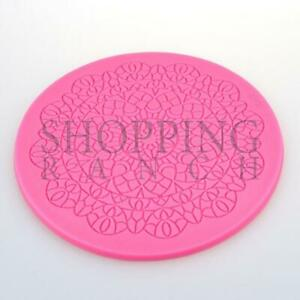 Cake Lace Doily Pattern Silicone Mould Mat Embosser Wedding Decoration