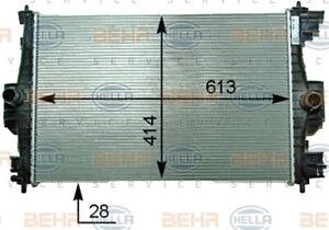 BEHR/MAHLE RADIATOR Fits CITROEN DS4/PEUGEOT RCZ 1.6L 10-15 8MK 376 910-301