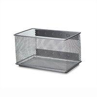 Ybm Home Wire Mesh Storage Basket Silver 7.75 in. L x 4.3 in. W x 4.3 in. H
