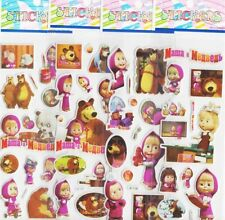 Masha And The Bear 3D Puffy Stickers/ Lot Of 3 Pieces