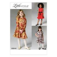 VOGUE SEWING PATTERN CHILDREN'S / GIRLS' DRESS & BELT SIZE 2 - 8 V9141