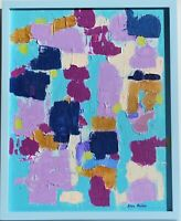 "Original Abstract textured Painting on Canvas  Titled ""Morning Traffic"", signed"