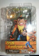 NECA Crash Bandicoot with Crate replica Playstation figure NEW