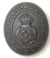 WW2 Derbyshire Volunteer  Regiment of  Home Guards Cap Badge original,