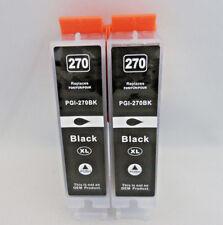 PGI270 XL Black Inkjet Cartidge for Canon Pixma MG7720 MG6820 MG6822 MG5720 2PK