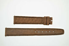 OMEGA NOS Vintage Soft Leather Watch Strap Brown 16/14 16mm (B195)
