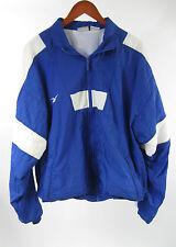 Reebok Blue White Full Zip Track Jogging Nylon Windbreaker Jacket Size L