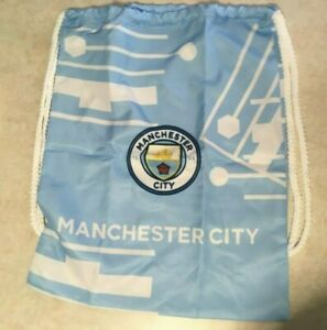 Manchester City Cinch Blue Backpack BookBag Gymbag drawstring Sack Soccer