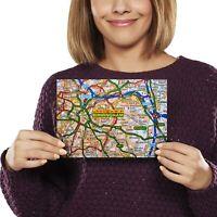 A5 - Birmingham England Travel City UK Map Print 21x14.8cm 280gsm #44284