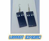 LEGO Custom Dangle Earrings - Tardis Panel - Doctor Who FREE POST
