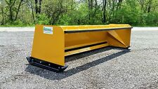 8' Low Pro snow pusher box with pullback bar FREE SHIPPING skid steer bobcat