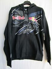 FOX racing X-fighters Red Bull Strike Thru Zip up fleece hoodie sweatshirt MD