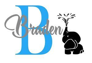 Custom Name Personalised Wall Decal Nursery Girls Boys Sticker Baby Art Bedroom