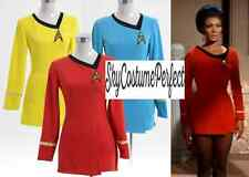 FREE SHIP Star Trek Original Series LIEUTENANT UHURA Uniform RED Dress Costume !