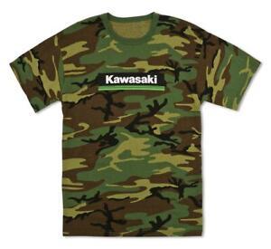 Kawasaki 3 Green Lines Camo T-Shirts in All Sizes