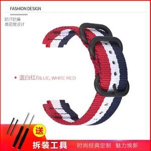Nylon Watch strap For Garmin Forerunner 220 235 620 630 735 S6 S20 Band 22-15mm