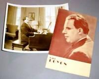 PAUL DOYON BLIND CONCERT PIANIST 1942 PHOTO & PROGRAM
