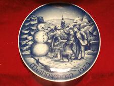 Bareuther Waldsassen Bavaria Weihnachtsteller Christmas 1975  Schneemann