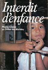 Livre interdit d'enfance M.C. et G. de Maistre book
