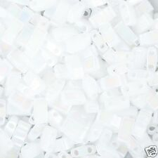 Miyuki White Pearl AB Half Tila 2.5x5mm Bead TLH-471 10g