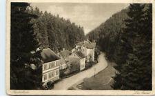 FRIEDRICHRODA ~1920 Auto vor Häusern im Grund Strasse