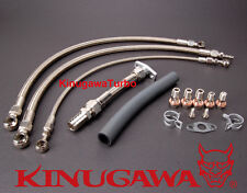Top Mount Turbo Oil Water Line Nissan RB20DET RB25DET w/ Garrett GT2560R GT2871R